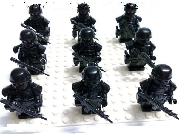 9pcs/sets SWAT Special Operations Force Gun Weapons Original Toy Police Military Weapons Accessories  Compatible