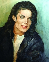 Hand painted famous person pop art paintings Michael Jackson realistic figure wall art wall painting