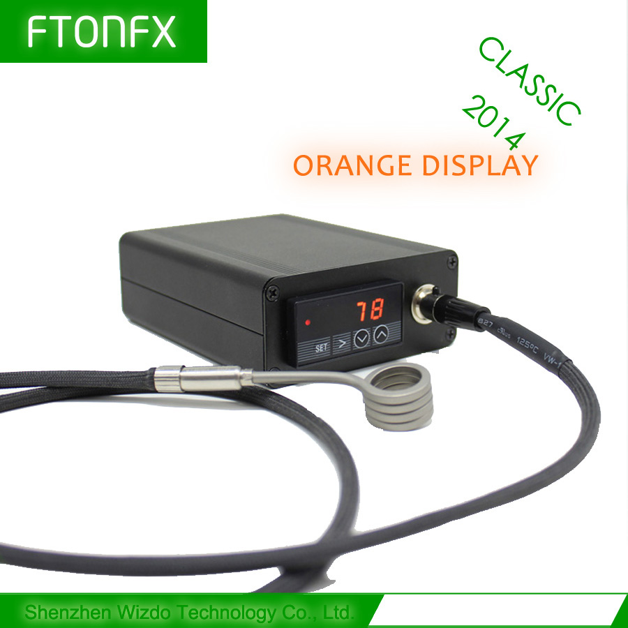 CLASSIC 2014 WIZB Orange 120V 150W MINI TEMPERATURE CONTROL BOX NAIL COIL HEATER TITANIUM NAIL