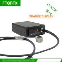 (คลาสสิก2014, WIZB,สีส้ม) 120โวลต์150วัตต์,มินิกล่องควบคุมอุณหภูมิ,เล็บเครื่องทำขดลวด,ไทเทเนียมเล็บบุหรี่อิเล็กทรอนิกส์