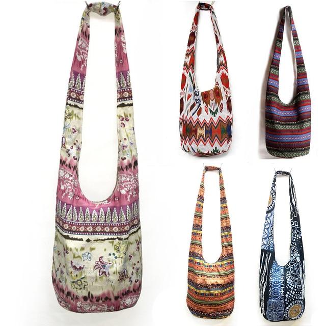 2018 Cotton Thai Hippie Gypsy Women Unique Ethnic Shoulder Bag Tribal Bags Bobo Crossbody Messenger Sling