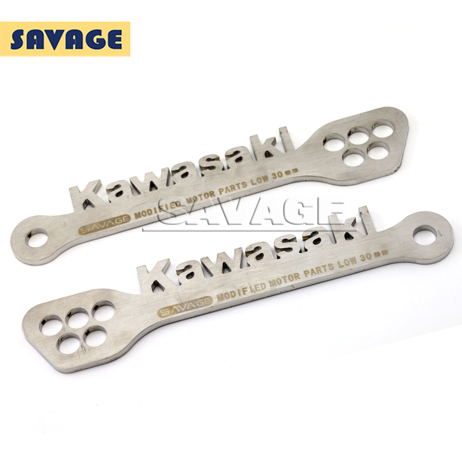 Motorcycle Adjustable Stainless Steel Suspension Drop Link Kits Lowering Links Kit For KAWASAKI Z750 Z1000 2003-2009 05 06 07 08