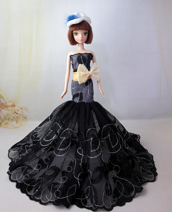 High quality Handmade Gifts For Girls fishtail skirt Slim Evening Suit Wedding Dress Clothes For Barbie