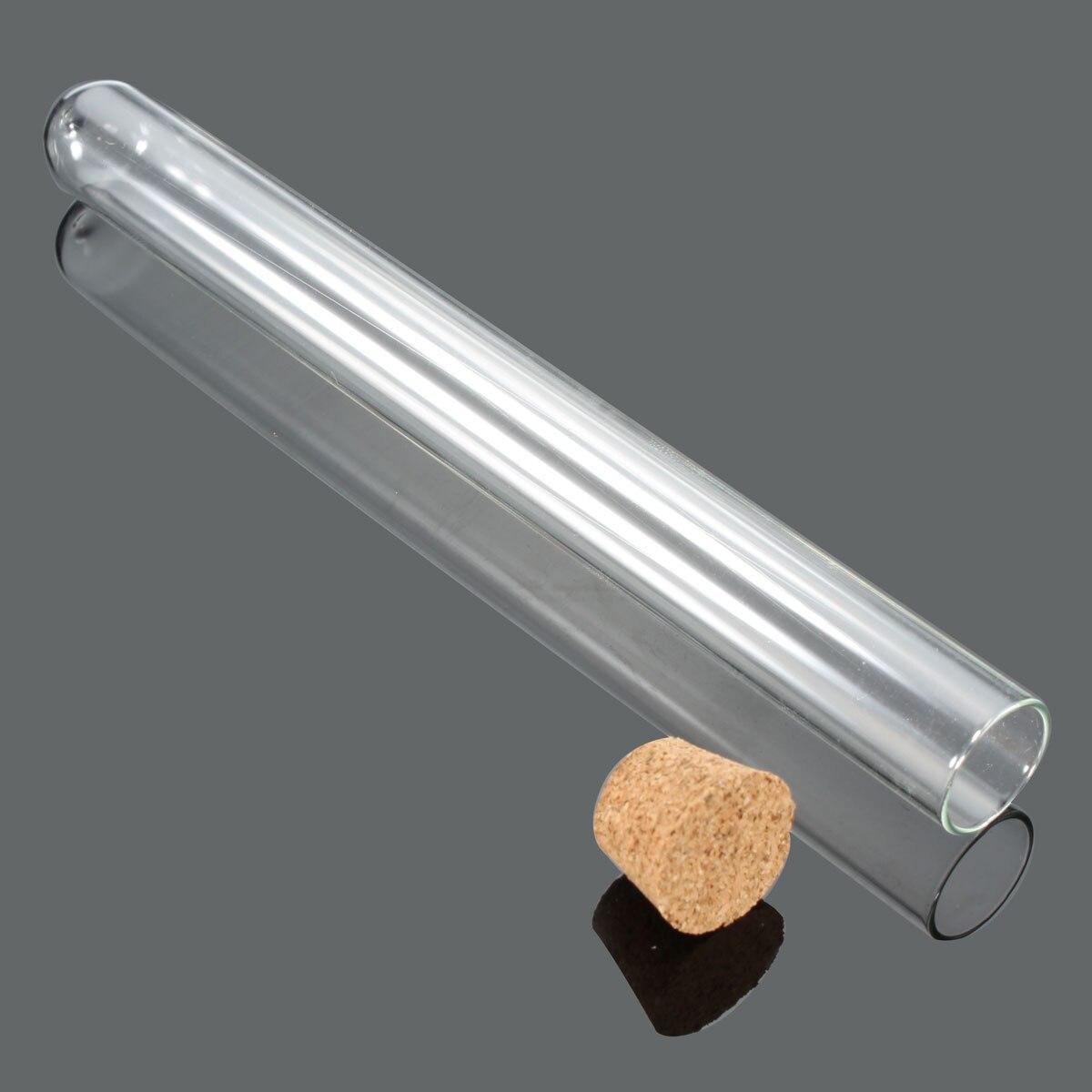 100 шт./упак. 20X200 мм лабораторная стеклянная пробирка с корковые пробки лабораторные школьные образовательные принадлежности химия стеклянная посуда