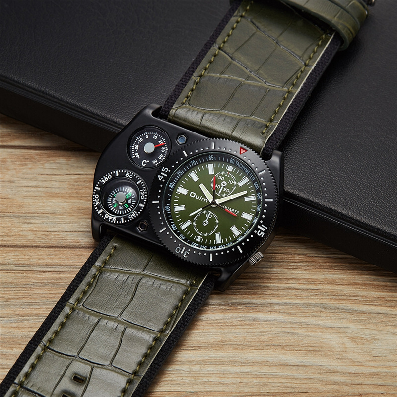 Oulm Reloj de pulsera deportivo Hombres Reloj militar de cuarzo de - Relojes para hombres - foto 4
