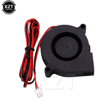 Mais novo 1 pcs DC Cooling Blower Fan 2 Fios 5015 S 12 V 0.14A 50x15mm para 3D impressora