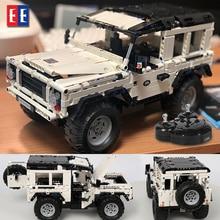 Legoed Technic lepined mustang Радиоуправляемая машина внедорожник конструктор автомобиль кирпич дистанционное управление внедорожник игрушки для детей