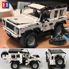 Legoed Technic lepined mustang RC Car Model SUV Building Block Car Brick Remote Control Cross Country Vehicle Toys For Children(China)