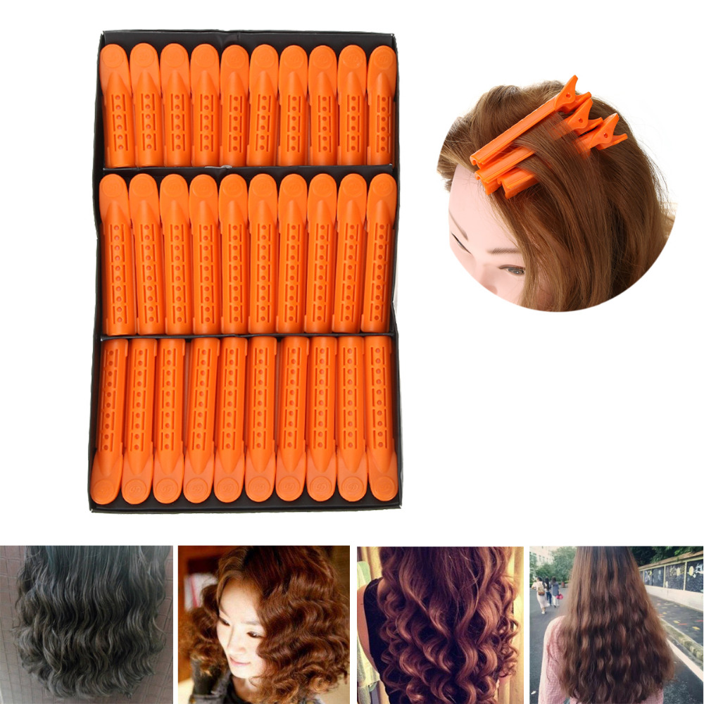 30Pcsset Wave Fluffy Hairstyling Clips Clamps Perm Rod