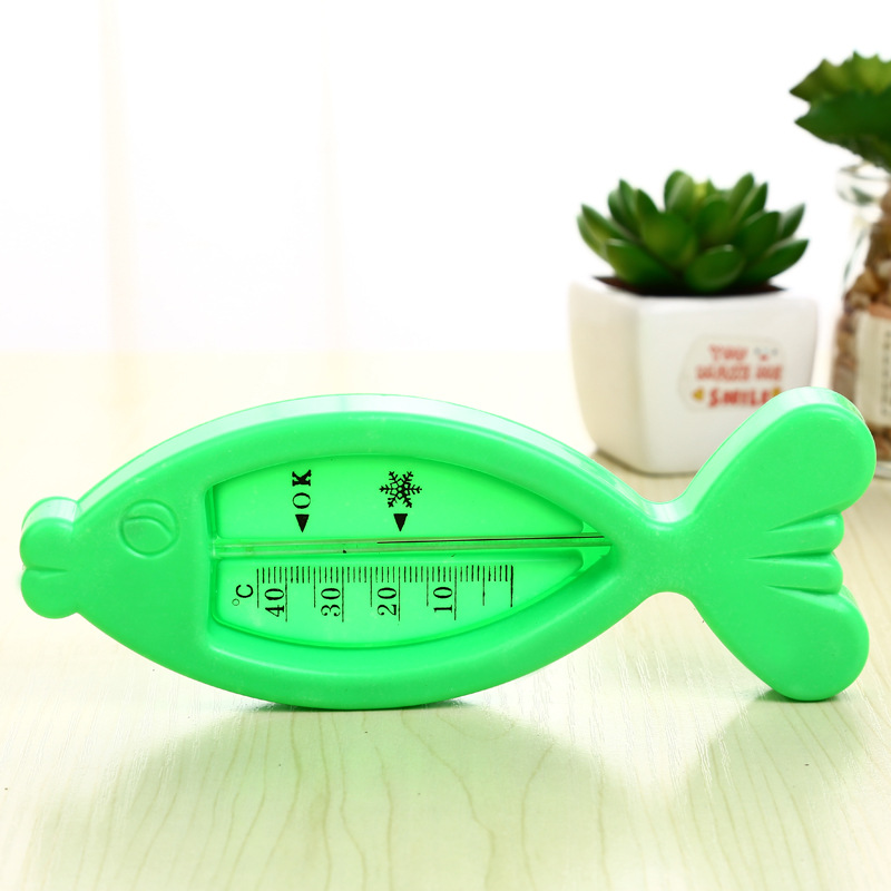 Drink Float Thermometer Plastic Fish Toy Educational Wash Water Temperature Meter Swimming Baby Bath Toys for Children