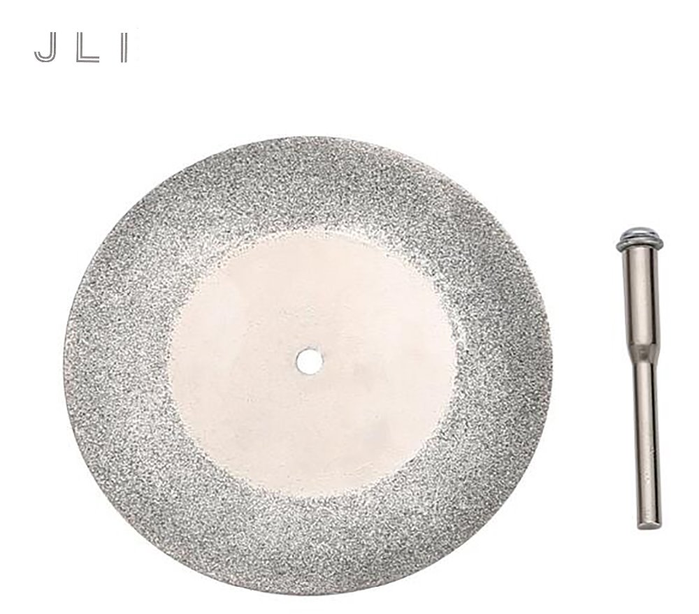 JLI 10 pcs Rotary Cutting Discs Blades 60mm Diamond Coated for Jewelry Dremel Tools With 3mm Connecting rod