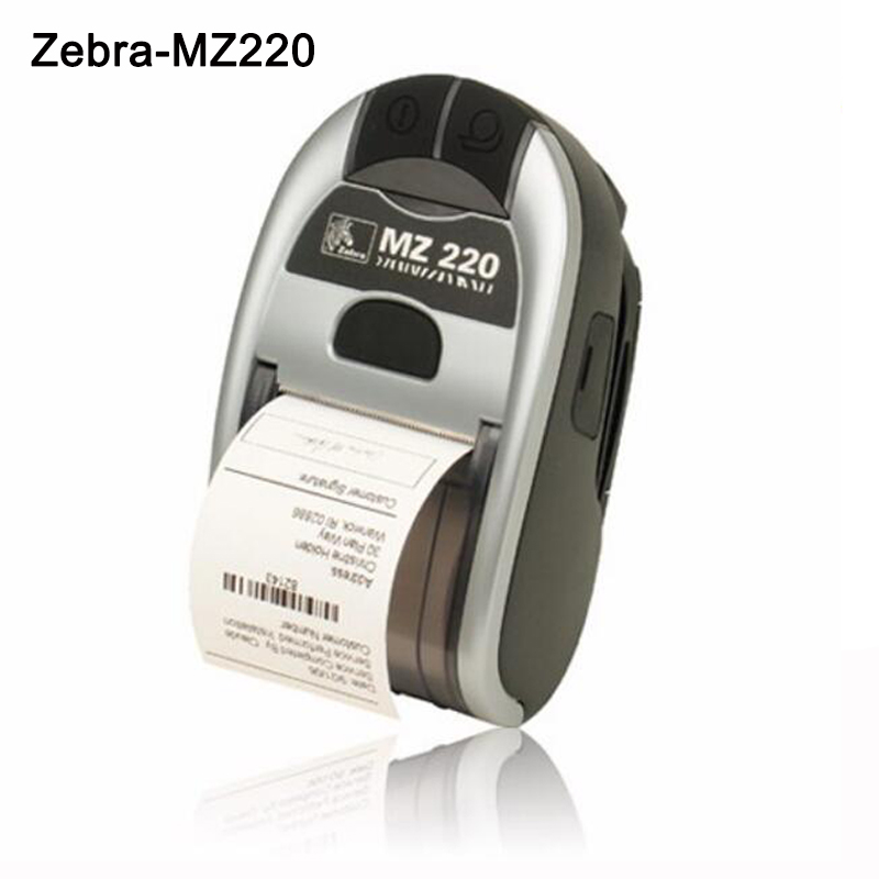 все цены на Original New For Zebra MZ 220 Mobile Thermal Label Printer Mini portable Bluetooth Label Printer Stock Clearance Price онлайн