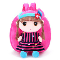 2017 Cute Kids Child Cartoon Girls Backpack Baby Toddler Schoolbag Shoulder Bag Nylon Soft Colorful Bags Gift