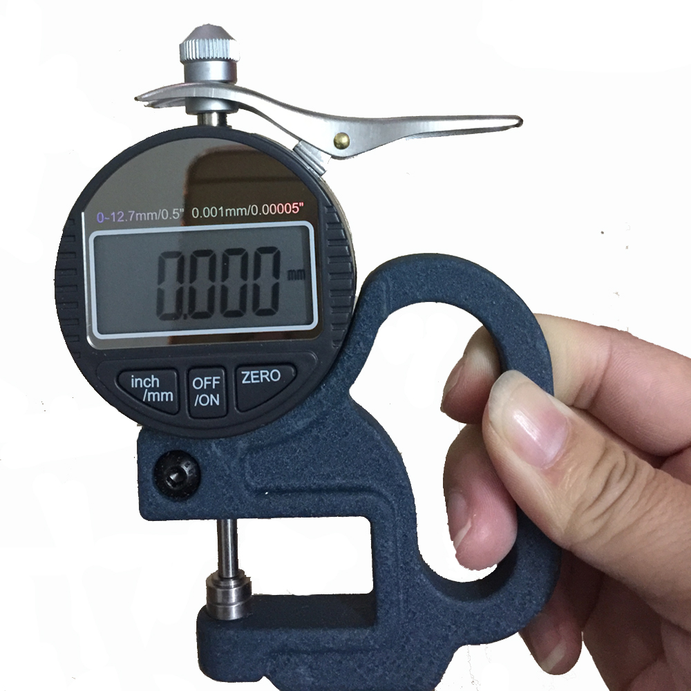 free shipping 0-12.7mm 0.001mm Digital Thickness Gauge thickness meter paper film thickness tester exploit high precision 0 01mm profession digital lcd display thickness gauge meter paper leather fabric thickness tester