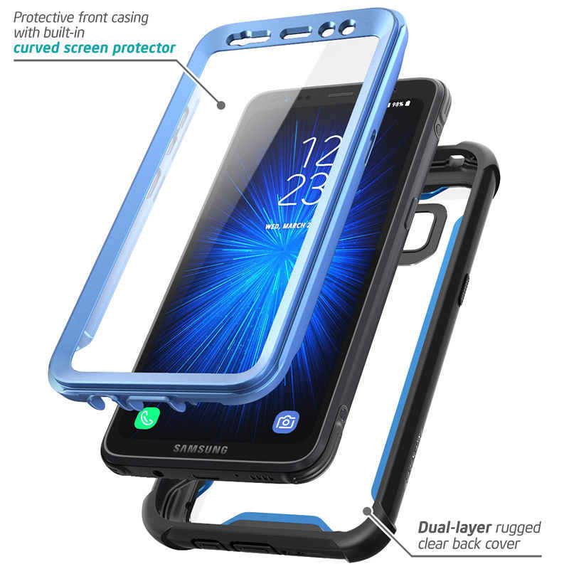 the latest 5b20b e37ad For Samsung Galaxy S8 Active Case i-Blason Ares Series Full-Body Rugged  Clear Bumper Case with Built-in Screen Protector