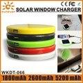 High quality portable china supplier 5v 1a solar battery bank 2600mah