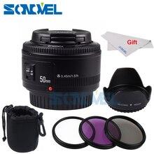 YONGNUO YN50mm AF f1.8 Lente YN50 Abertura Foco Automático Da Lente Da Câmera para Canon EOS 800D 760D 750D 80D 77D 5Ds 7D 6D DSLR Camera