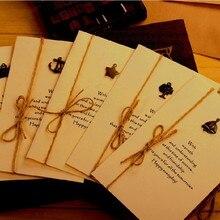 1 лот = 20 шт.! креативная Ретро металлическая складная открытка-приглашение/день рождения, открытка с пожеланиями/карточки для фестиваля