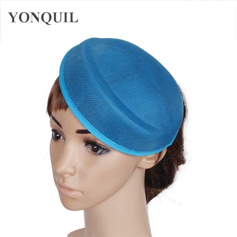Sea blue or multiple colors Imitation Sinamay 18CM fascinator base DIY hat women party headpiece Occasion wedding hair accessory headpiece