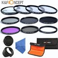 52mm UV CPL FLD +ND2 ND4 ND8 +Close up Macro+1+2+4+10 K&F CONCEPT Lens Filter Set For Nikon D3100 D3200 D5100 D5200 D5000 Camera