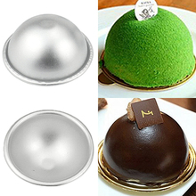 NEW Bath Bomb 3D Aluminum Ball Sphere Cake Pan Sugarcraft Bakeware Decorating Mold Store 243(China)