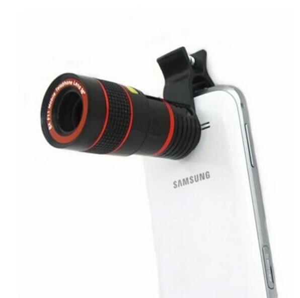 Universal de 8x zoom óptico del telescopio, lente para teléfonos móviles para el iphone 6 samsung s5 s4 s3 galaxy note 4 3