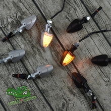 High quality aluminum alloy motorcycle custom Triangle LED Turn signal lamp lights CE certifica