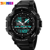 SKMEI Brand Fashion Mens Digital LED Display Sport Quartz Watch Relogio Masculino 50M Waterproof Wristwatches Men