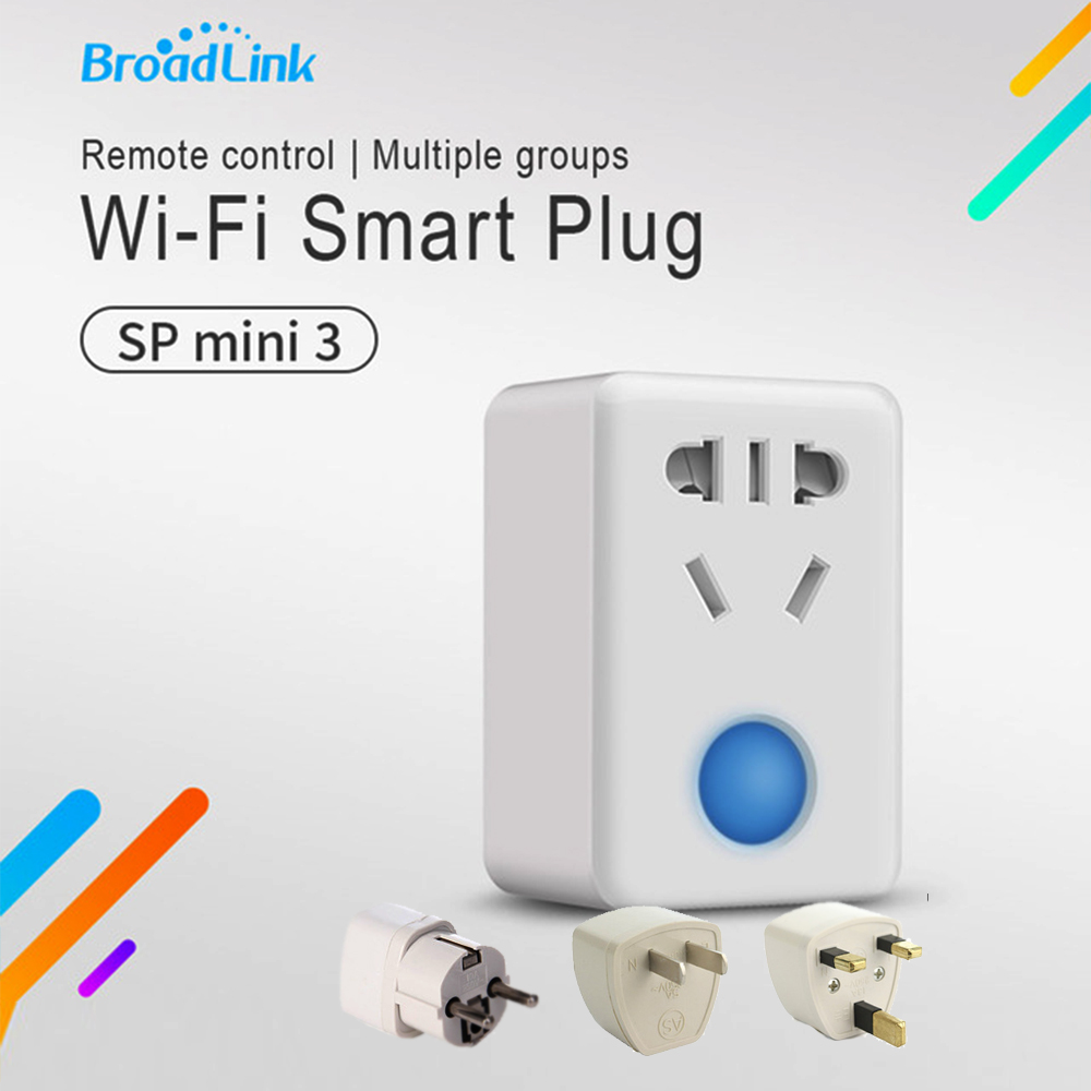 Original Broadlink SP Mini3 Control Mini 3 Wireless Smart Plug Socket Wifi 4G Remote Control New Design Smart Home Automation broadlink smart socket sp mini smart remote socket power plug wifi wireless timer outlet smart home automation switch