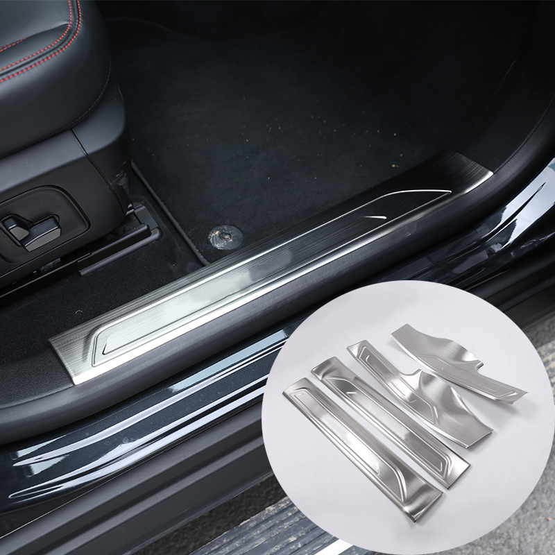 4pcs 304 Stainless Steel Inner Door Sill Protector Cover Plates For Maserati Levante SUV 2016 Car Styling Accessories image