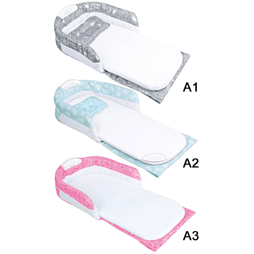 Baby Snuggle Nest Infant Sleeper Bed Bassinet With Handle Nightlight Music New