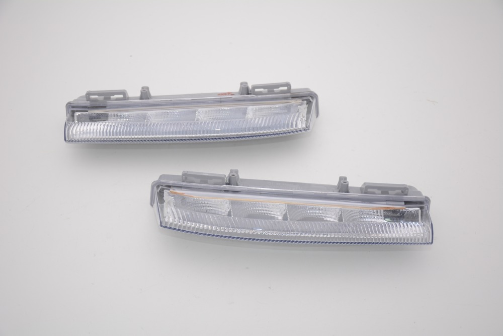 1 Pair LED front fog lamps driving fog lights for Mercedes Benz C-Class W204 W212 2007-2016 front fog light for mercedes benz w163 ml270 ml230 ml320 ml400 ml350 ml500 ml430 ml55