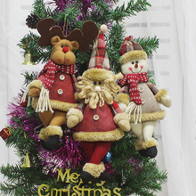 New Year Christmas Decorations for Home Santa Snowman Pendant Christmas Ornaments Merry Christmas Tree Decorations Chrismas Toys(China)