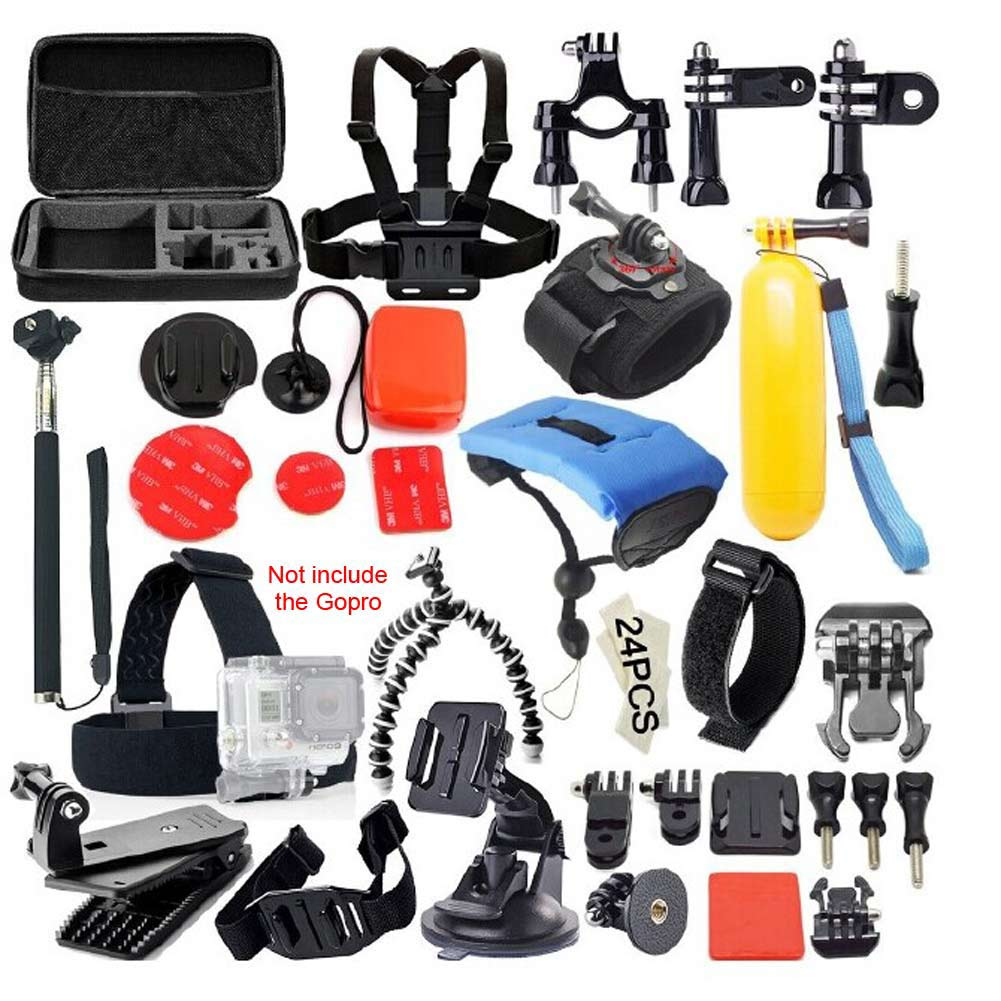 ФОТО 30In1 Sports Photography Set Kit Tools 30 Different Accessories for GOPRO diving climbing surfing and aerial photographing