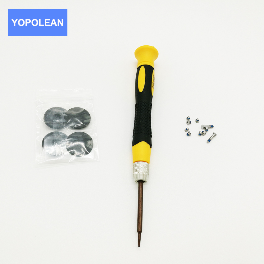 New For A1369 A1370 A1465 A1466 Rubber Bottom Case Cover Feet Foot Kit +SCREWS Set+TOOL For Macbook Air 11