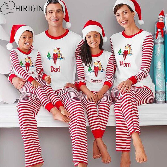 Hirigin Familia Navidad Pijamas Familia Ropa A Juego Madre Hija 2017