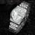 Nova Marca de Luxo Data Dia dos homens Assistir À Prova D' Água Mens Relógios de Negócios de Aço Inoxidável Relógio de Quartzo Relógio de Pulso Montre Homme 0190
