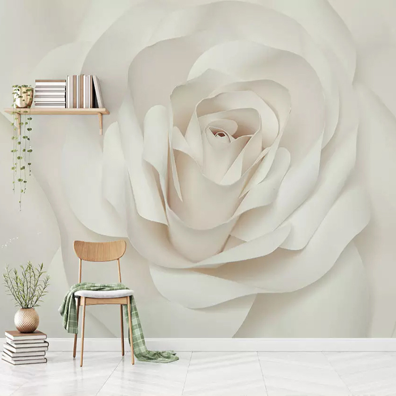 Custom Wall Painting Modern Romantic Rose Flower Living Room Bedroom TV Background Photo Wallpaper For Walls Mural De Parede 3D