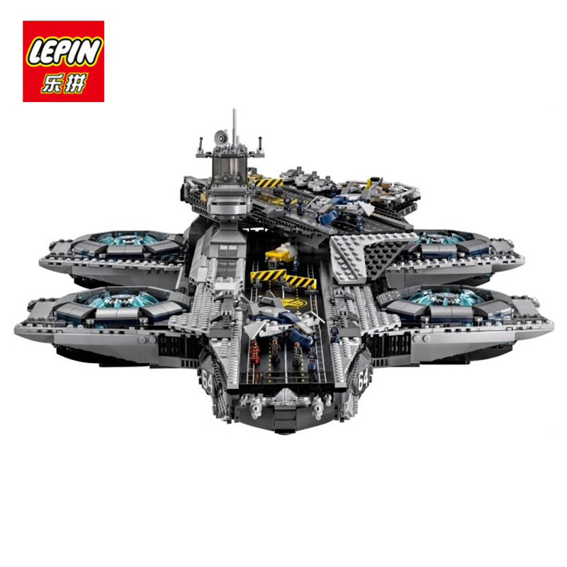 LEPIN 07043 3057Pcs Super Heroes The SHIELD Model Building Kit blocks Brick Toys for children compatible with 16042 building blocks super heroes back to the future doc brown and marty mcfly with skateboard wolverine toys for children gift kf197