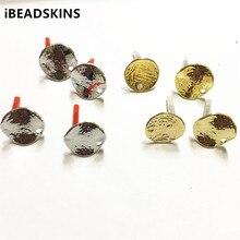 Neue ankunft! 16mm 100 teile/los zink legierung twisted münze form ohrring/ohrringe zubehör/Ohrring teile für Schmuck DIY