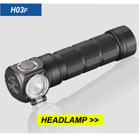 SKILHUNT H03F Aluminum Body Waterproof XM L2 U4 1200 LM MAX Adjustable LED Flashlight Headlamp Torch