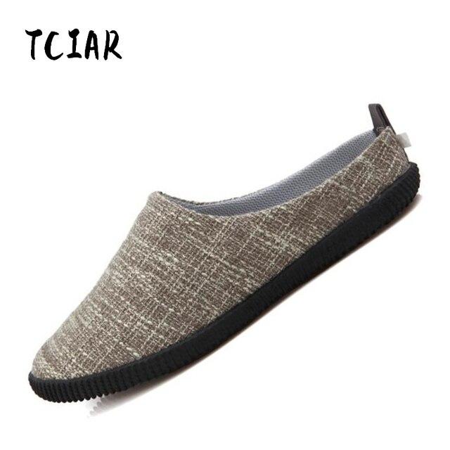 2018 verano hombres Casual mocasines hombres Espadrilles moda cómodo resbalón-en zapatos de cáñamo Mens conducción pisos zapatos DI002