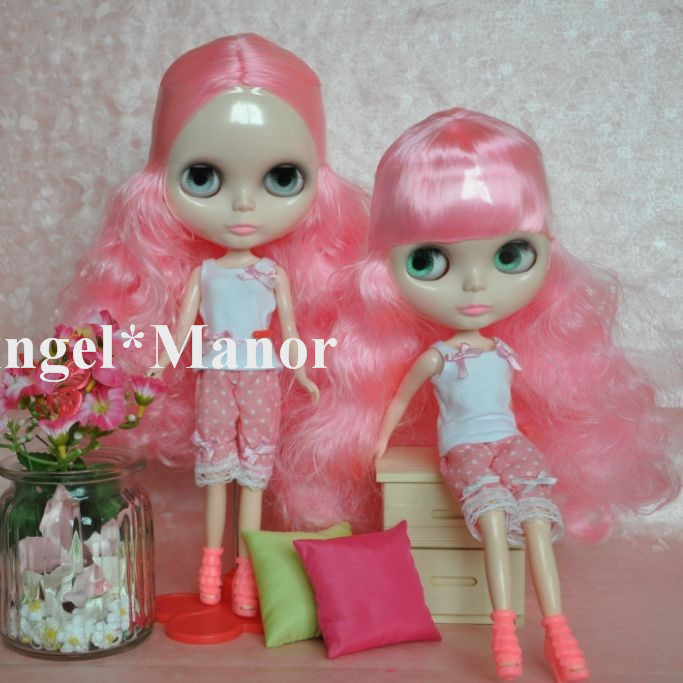 Free shipping Nude Blyth Doll, pink hair, big eye doll,For Girl's Gift,PJ003 free shipping nude blyth doll black5 hair big eye doll for girl s gift pjb005