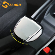 Zlord Car Interior Handbrake Cover Case Hand Brake Stickers for Peugeot 2008 2014 2015 2016 2017 2018 Accessories