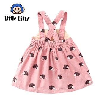 2018 New Girls Summer Dress Fashion Cute Childrens Princess Dress Cotton Sleeveless Baby Girl Clothes Birthday Gift
