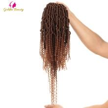 Golden Beauty 14 Bomb Twist Crochet Braids Synthetic Spring Braiding Hair Extensions Nubian 24 Strands