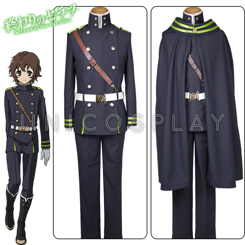 Seraph of the End Yoichi Saotome Cospaly Costume Full Set Owari no Serafu Haloween Uniform Cloak Top Shirt Pants Belt