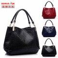 DOWERME 2016 испанский роскошные Аллигатор сумка для женщин сумки известных бренд дизайнер сумочку бренд Дамы руки мешок мешок основной femme