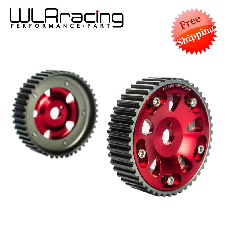 WLR RACING - FREE SHIPPING Adjustable Cam Gear 1pair 2pc FOR Toyota 3S-GTE MR2 CELICA CALDINA RED WLR6533R