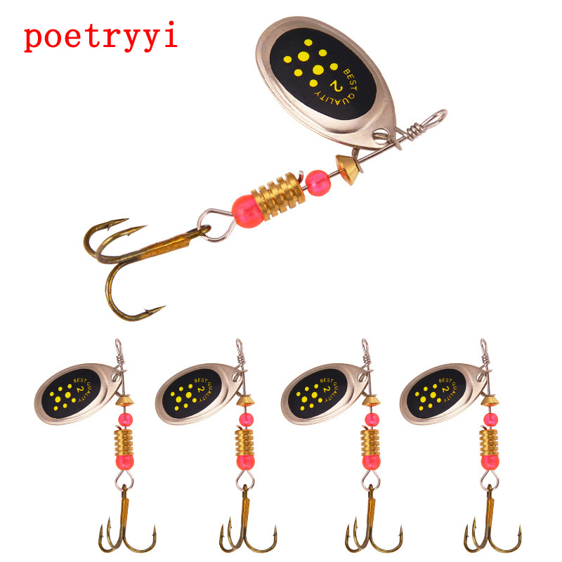 POETRYYI Metal Fishing Lure 1Pc 3.1g 5.5CM Spoon Spinner Bait Tackle Hard Isca Artificial 30